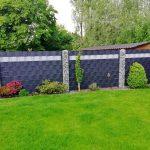 Doppelstabmattenzaun mit Sichtschutz in Wesel
